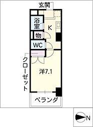第2さくらマンション中央[6階]の間取り