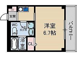 サンクラッソ茨木駅前[3階]の間取り
