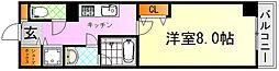 JR芸備線 矢賀駅 徒歩13分の賃貸マンション 9階1Kの間取り
