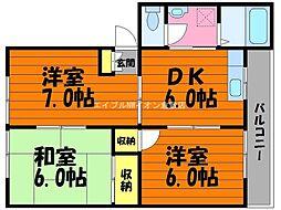 岡山県倉敷市水島相生町の賃貸アパートの間取り