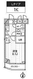 新築 レクシード武蔵関駅前[107号室号室]の間取り