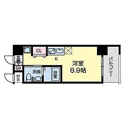 グレンパーク江坂II[0901号室]の間取り