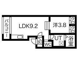 名古屋市営桜通線 車道駅 徒歩7分の賃貸アパート 2階1SLDKの間取り