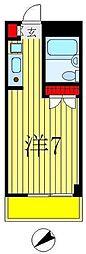 ラピス北松戸[3階]の間取り