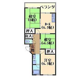 第二藤田マンション[301号室]の間取り