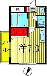 K-1マンション[1階]の間取り