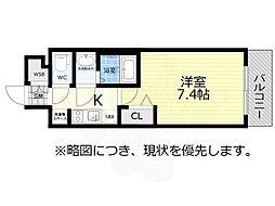 アドバンス名古屋モクシー 6階1Kの間取り