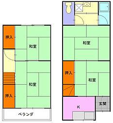 [テラスハウス] 大阪府八尾市楠根町2丁目 の賃貸【/】の間取り