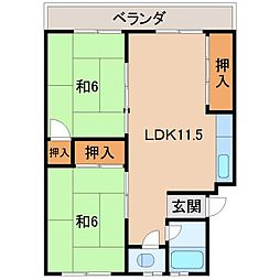 第2矢田マンション[2階]の間取り