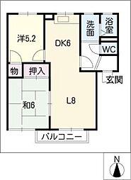 セントラルシャトー松本C棟[2階]の間取り
