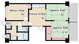 兵庫県神戸市長田区駒ヶ林町5丁目の賃貸マンションの間取り