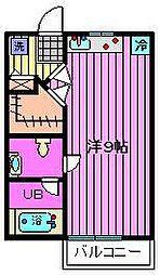 メゾンアルル[2階]の間取り