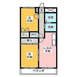 エクセル[3階]の間取り