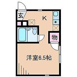 神奈川県横浜市港北区菊名6丁目の賃貸アパートの間取り
