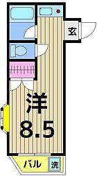 BNカツマ[201号室]の間取り