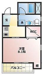 JR東海道本線 浜松駅 徒歩8分の賃貸マンション 1階1Kの間取り