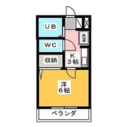 マンションクィーン[3階]の間取り