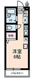 プロムナード中浦和[2階]の間取り