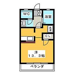 OS・SKYマンション鹿子[4階]の間取り