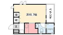 兵庫県西宮市甲子園口北町の賃貸アパートの間取り