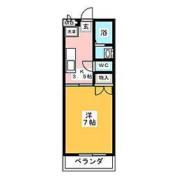 ハイツエーワン[1階]の間取り
