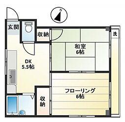 富士ハイツ bt[305号室]の間取り