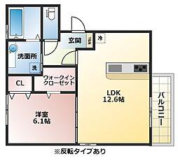 (仮称)D-room恩智中町B棟[1階]の間取り