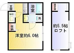 プリマ海風公園弐番館[102号室]の間取り