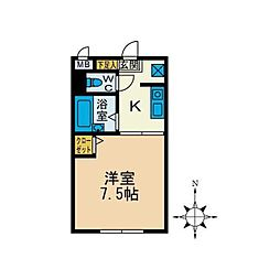 庭司苑参番館[2階]の間取り