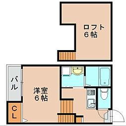 シェンヌ箱崎[2階]の間取り