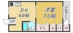 田口第一ビラ[2階]の間取り