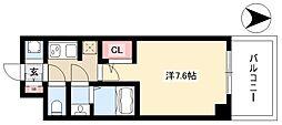 S-RESIDENCE本郷 10階1Kの間取り