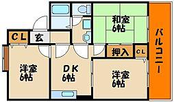 ドエル・サンセットII[1階]の間取り