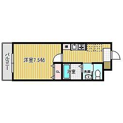 愛知県名古屋市中川区法華1の賃貸マンションの間取り