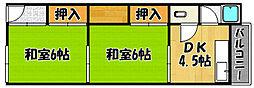 兵庫県神戸市西区王塚台6丁目の賃貸アパートの間取り