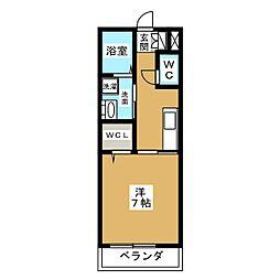 ドルチェ磐田二之宮 1階1Kの間取り