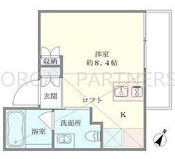T2 Minami Azabu[2階]の間取り