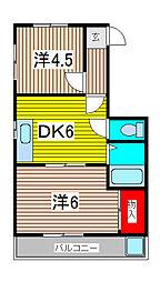 メゾン小泉南浦和第1[402号室]の間取り
