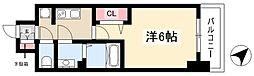 アステリ鶴舞トゥリア 12階1Kの間取り