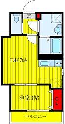 Grand Residence OJI 1階1DKの間取り