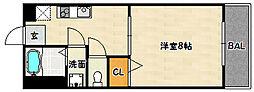 兵庫県神戸市兵庫区西柳原町の賃貸アパートの間取り