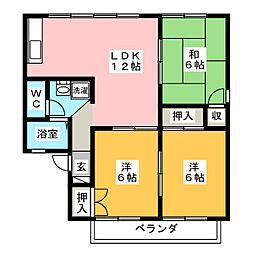セジュール伊藤 C棟[2階]の間取り