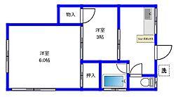 東京都練馬区桜台1丁目の賃貸アパートの間取り