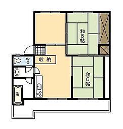 小村アパート[203号室]の間取り