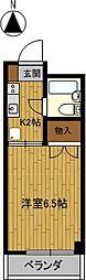 安田学研会館 南棟[3階]の間取り