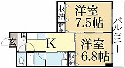 ウィステリア壱番館[1階]の間取り