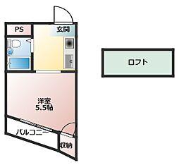 Osaka Metro谷町線 大日駅 徒歩8分の賃貸マンション 3階1Kの間取り