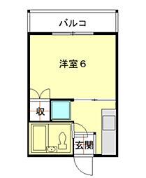 ハイツナナ[202号室]の間取り
