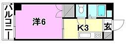 ハイム木屋町[302 号室号室]の間取り