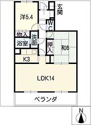 プラザMS[4階]の間取り